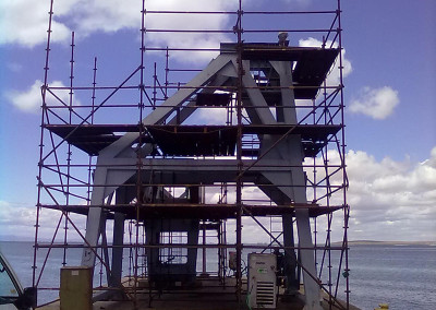 Anti-corrosion on crane St Helena Bay