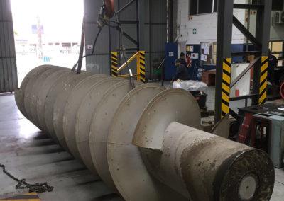 Waste water treatment works, Screw Pumps
